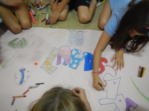 Giant Posters to reflect learning