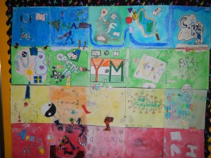 Personalised artworks create a whole class