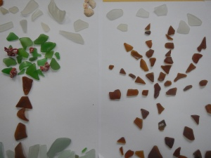 Linking art and nature using found sea glass